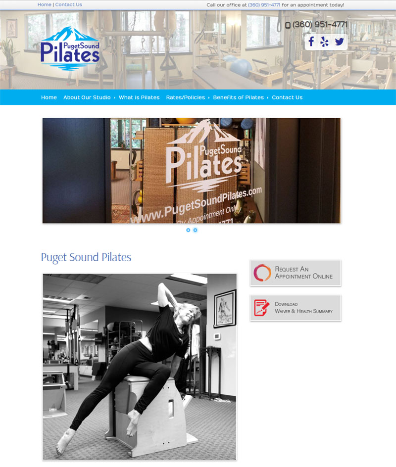Pilates website demo